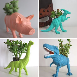 Beasts Of Burden: Recycling Plastic Toys Into Planters