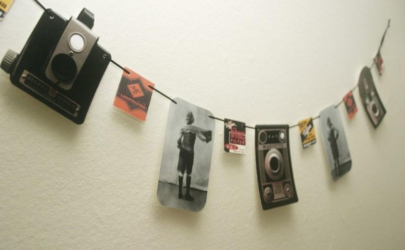 Vintage Camera & Photography Ephemera Garland