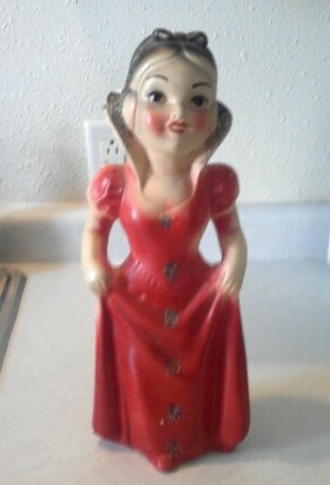 snow white knock-off chalkware