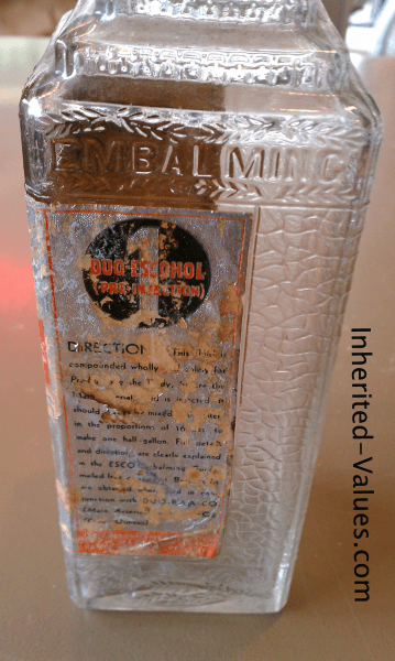 step-pyramid top glass embalming bottle