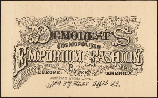 demorests emporium of fashion trade card sewing patterns antique
