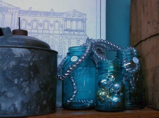 festive primitives glass canning jars