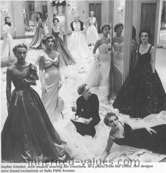 sophie gimbel fashions saks 1950s