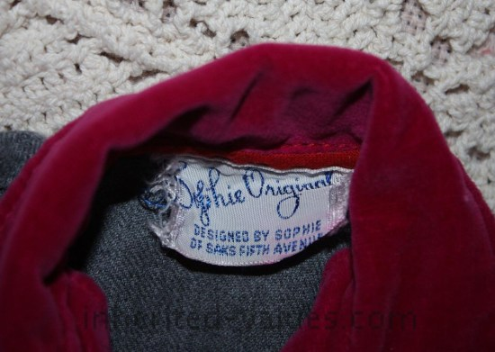vintage sophie originals doll clothes cloth label