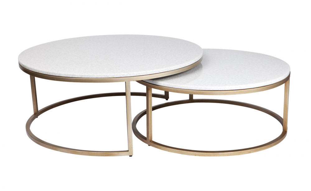 chloe coffee table set of 2