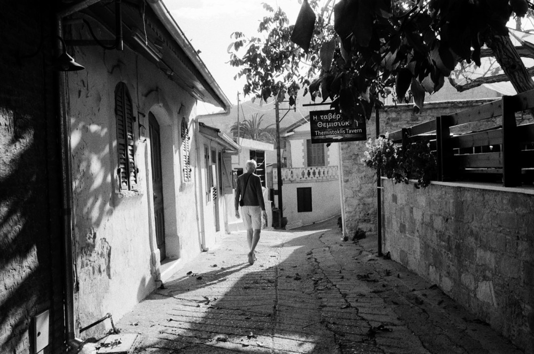 David in the village of Omodos, Cyprus – by Patrick Dransfield