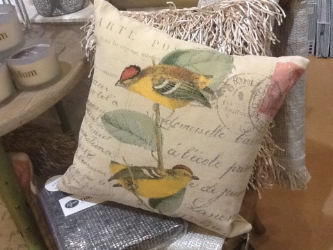 Bird cushion $39.95