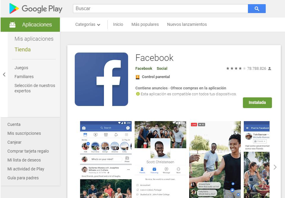 facebook iniciar sesión en