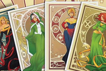 Belas heroínas Marvel em Art Nouveau