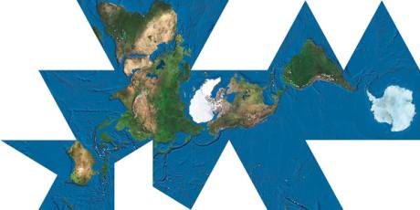 Mapa Dymaxion