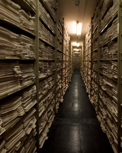 Imagen del archivo de Bad Arolsen realizada por Richard Ehrlich