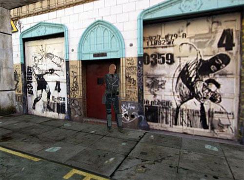 Imagen de graffitis en Second Life