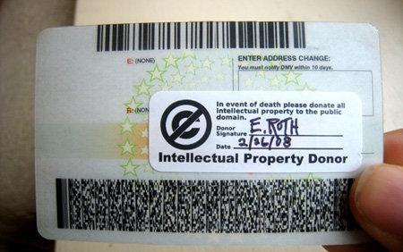 Tarjeta de donante de propiedad intelectual