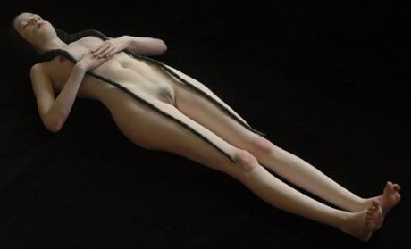 Imagen de la escultura White Snow de Judy Fox