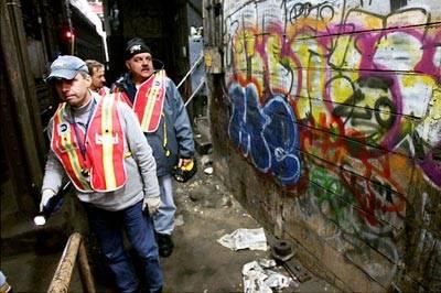 Imagen del NYC Transit Squad en acción