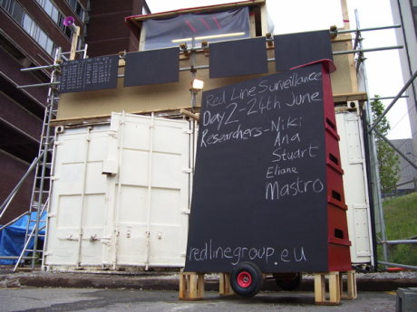 Imagen de la torre de vigilancia de Red Line en Birmingham