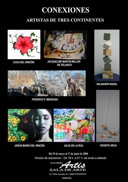 Cartel de la exposición Conexiones en Valencia