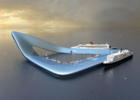 Imagen de un puerto realmente acuático para Holanda