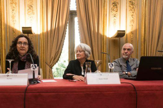 Steve y Cathy Marlett con Ana Ruiz en Casa de América (Madrid)