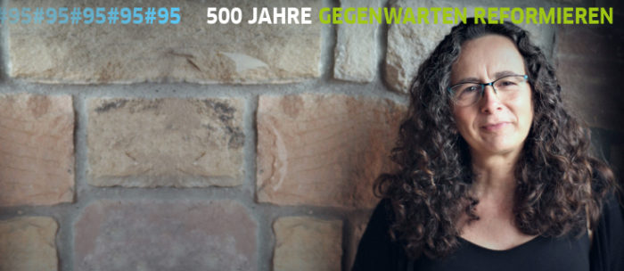 Ana Ruiz (Wor(l)ds Lab) in an event at the Goethe Institute on the Reformation in the contemporay world