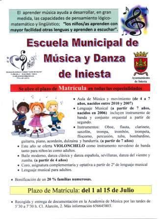 CartelMatriculasMusica2014