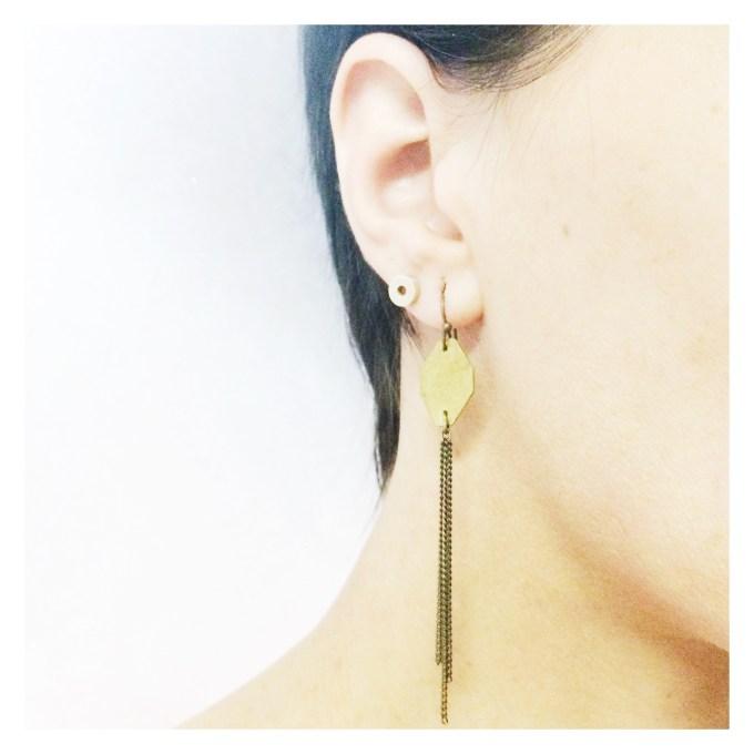summer rain earrings (silver)
