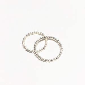 Basic medium •••ring in sterling silver (2mm)