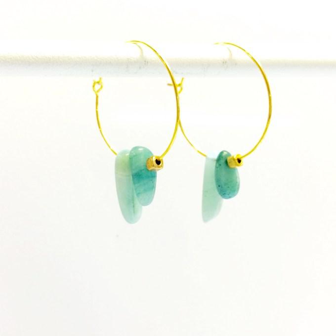 Gemstone Hoops mint