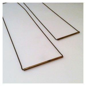 Golden Glow Small Bar Necklace