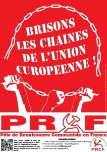 BRISONS LES CHAINES DE L UNION EUROPEENNE