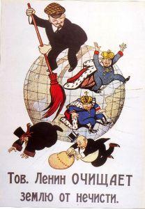 Lénine balaie le monde