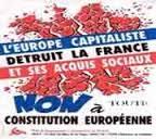 affiches PRCF non à toute constitution européenne sortir de l'ue