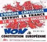 affiche du PRCF de 2005 pour le non à toute constitution européenne