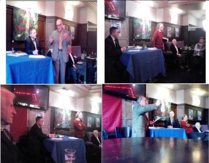 Quelques intervenants à ce café hyper républicain du 29/11/2014 : JL Pujo, G Gastaud, P Pranchères,L Landini, B Debré
