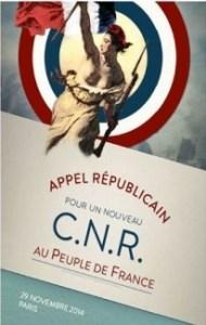 « POUR UN NOUVEAU C.N.R. » appel du 29 novembre 2014