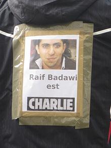 NON AU FANATISME D'ETAT ! NOUS SOMMES TOUS RAIF BADAWI ! #jesuischarlie