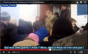 Les ukrainiens se mobilisent contre la mobilisation en ukraine et la guerre #vidéo [Zaporozhye, Kramatorsk