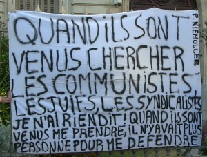 affiche niemoller communiste syndicaliste juif antifascisme