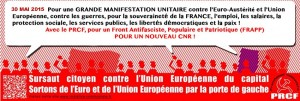 Manifestation anti-UE 30 mai-3015