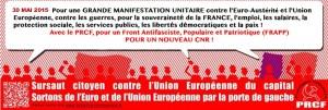 [tract] le 30 mai Manifestation à Paris contre l'euro, l'UE, l'OTAN, le capitalisme, Brisons l'étau du Parti Maastrichtien Unique et de la fascisation en cours !