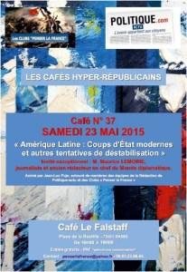 37e Café Hyper-Républicain, 23 Mai 16-19h, Falstaff PARIS