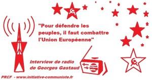 """Georges Gastaud interviewé par radio Sputnik """"Pour défendre les peuples, il faut combattre l'Union Européenne"""""""