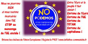 Entre l'Euro et le peuple, PODEMOS choisit l'euro / Le PCPE pour la sortie de l'UE et de l'Euro ! #europe #grèce #espagne