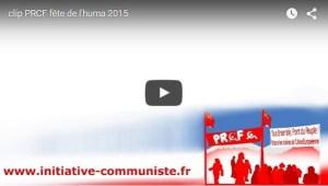 Regardez les vidéos de tous les débats sur le stand du PRCF à la fête de l'Huma 2015