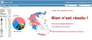 résultat élections grecques sept. 2015