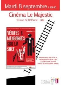 """Avant première de """"Vérités et Mensonges sur la SNCF""""  un film de Gilles Balbastre #lille #08/09"""