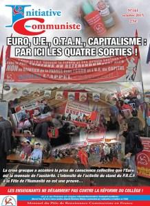 Initiative Communiste octobre 2015 est paru : achetez le !  IC n° 161 #journal #média
