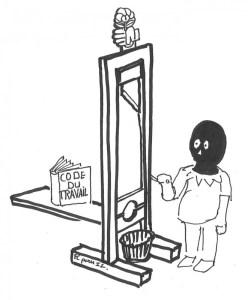 Le code du travail à la guillotine