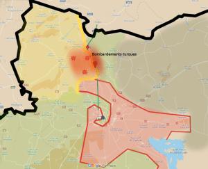 bombardements turques syrie février 2016 azaz