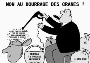 Bourrage de crâne : stop à la violente campagne de presse contre la CGT et le mouvement social !